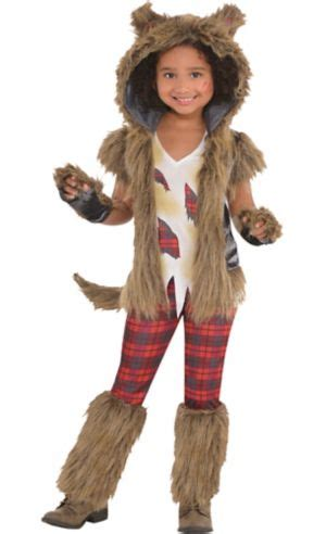 Little Girls Full Moon Werewolf Costume - Party City