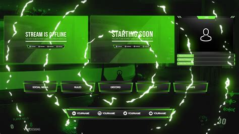 FREE TWITCH LIVE STREAM OVERLAY PACKAGE TEMPLATE 2 - Payhip
