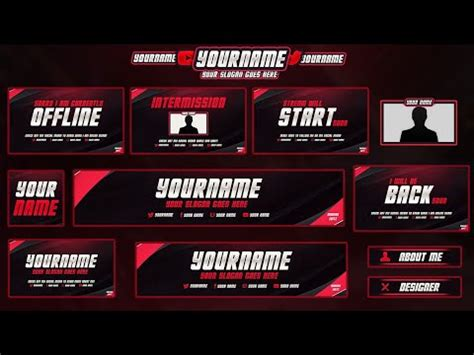 #3 FREE Twitch/Hitbox Streaming Overlay Template Pack 2017