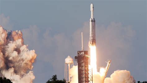 Falcon Heavy, SpaceX's Giant Rocket, Launches Into Orbit