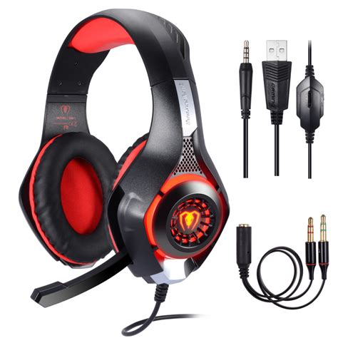 Casque Gaming PS4 PC Xbox One Switch, Casque Gamer avec
