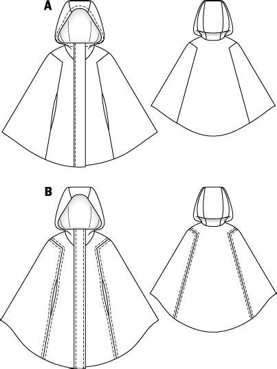 Cape with Hood 10/2011 #101 – Sewing Patterns | BurdaStyle