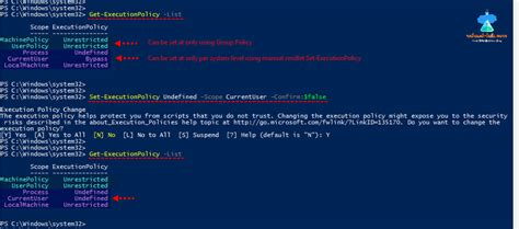 Powershell execution policy setting is overridden by a