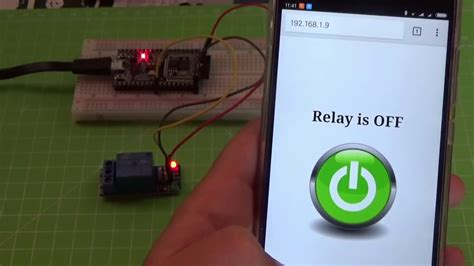 ESP32 How to control a relay using a web browser - YouTube