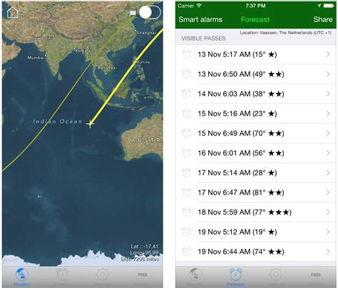 3 Free iPhone Apps for Tracking the International Space