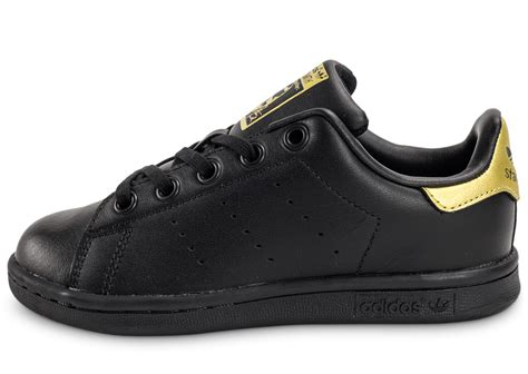 adidas Stan Smith Enfant noire et or - Chaussures adidas