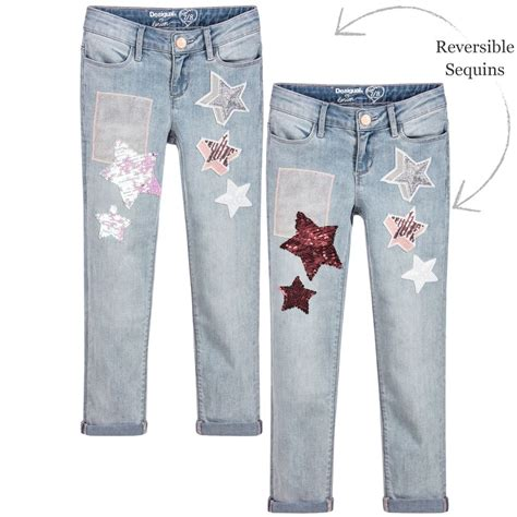 Desigual - Girls Sequin Star Jeans | Childrensalon