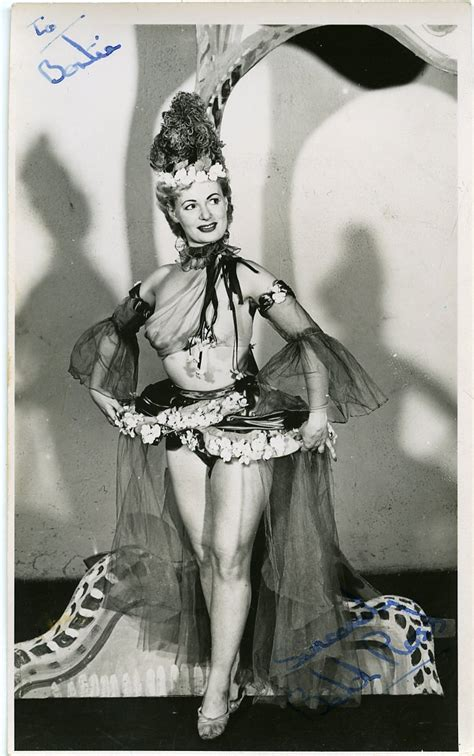 Signed Publicity Photo Of Windmill Girl – Beth Ross c1950