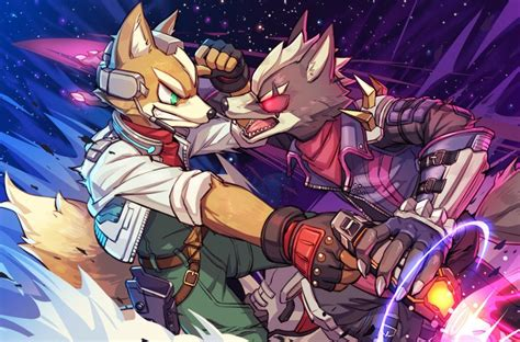 fox mccloud and wolf o'donnell (super smash bros