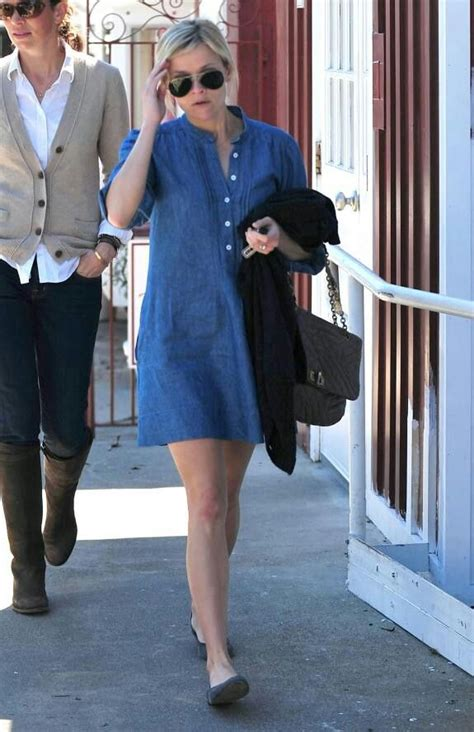 Reese Witherspoon in denim dress # women's fashion # denim