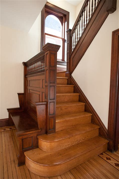 Victorian Foursquare - Traditional - Staircase - st louis