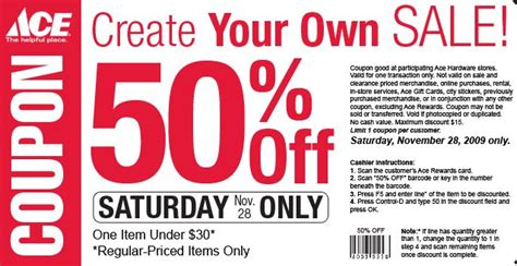 Ace Hardware: 50% off on item :: Southern Savers