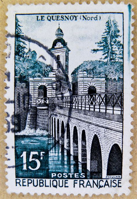 Fluidr / beautiful french stamp France 15f Postes postage