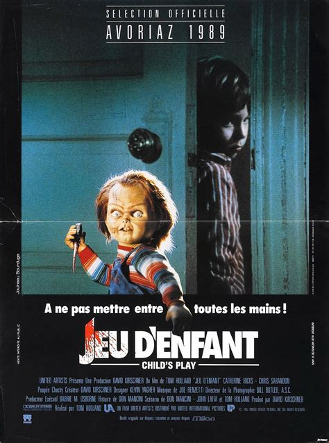 Poster for Child's Play (1988, USA) - Wrong Side of the Art