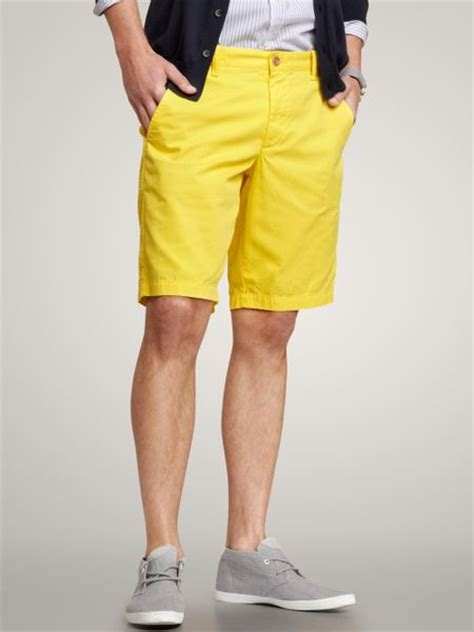 Gap Flat Front Shorts in Yellow for Men (neon yellow) | Lyst