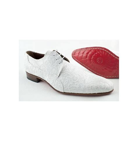 Chaussures blanches en dentelle pour homme Chaussure homme