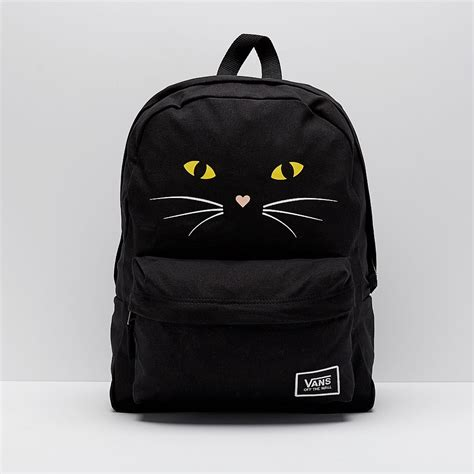 Bags & Luggage - Vans Realm Classic Backpack - Black Cat