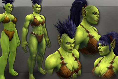 New World of Warcraft female orc design brings out her