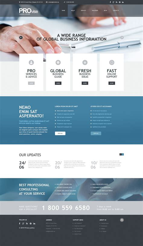 Financial Consultancy PSD Template